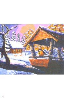 Купить Рисование по по дереву Зимняя пора (40х50 см) (FLA030), Русская живопись, Создаем и раскрашиваем картину