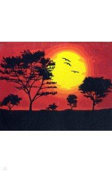 Купить Рисование по дереву 40х50 Закат солнца (FLA032), Русская живопись, Создаем и раскрашиваем картину