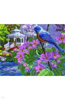 Купить Рисование по дереву 40х50 Синяя птица (FLA050), Русская живопись, Создаем и раскрашиваем картину