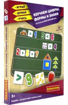 Купить Магнитные игры Изучаем цифры, формы и знаки (ВВ4417), Bondibon, Цифры на магнитах