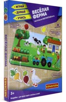 Купить Игра магнитная настольная Веселая ферма (ВВ4830), Bondibon, Игры на магнитах