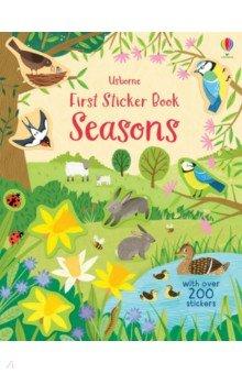 Купить First Sticker Book. Seasons, Usborne, Книги для детского досуга на английском языке