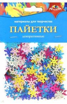 Купить НГ Декоративные пайетки Снежинки (С3572-01), АппликА, Сопутствующие товары для детского творчества