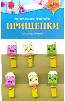Декоративные прищепки Мороженое (С3574-01), АппликА, Сопутствующие товары для детского творчества  - купить со скидкой