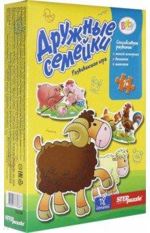 Купить Игра-малышка Дружные семейки (76236), Степ Пазл, Обучающие игры