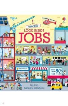 Look Inside Jobs, Usborne, Первые книги малыша на английском языке  - купить со скидкой