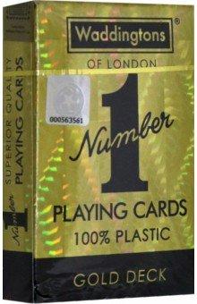 Купить Карты игральные цветные золото Waddingtons No 1(WM-029391), Winning Moves