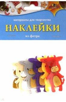 Купить Наклейки из фетра Бычок (С3739), АппликА, Сопутствующие товары для детского творчества
