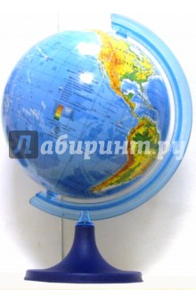 Глобус физико-географический. D=110 мм Zachem