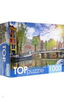 Купить Puzzle-1000. Солнечный канал в Амстердаме (ГИТП1000-4139), Рыжий Кот, Пазлы (1000 элементов)