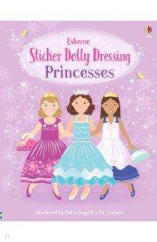 Купить Sticker Dolly Dressing. Princesses, Usborne, Книги для детского досуга на английском языке