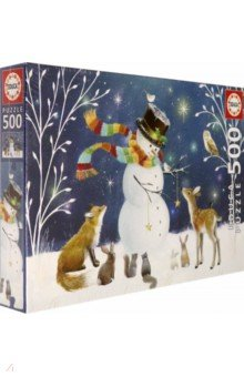 Купить Пазл-500 деталей Снеговик и его друзья (18957), Educa, Пазлы (400-600 элементов)