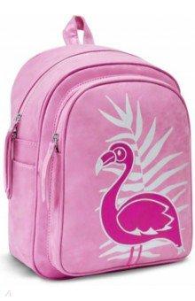 Купить Рюкзак 35х26х16 см, розовый с фламинго (48372), Феникс+, Рюкзаки школьные