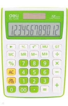 Калькулятор настольный зеленый 12-разрядный (E1238/GRN)