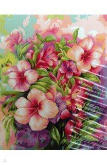 Купить Картина по номерам ЯРКИЙ БУКЕТ, 40х50 см (M-1859), MAZARI, Создаем и раскрашиваем картину