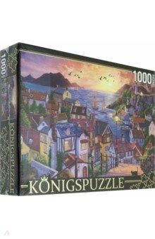 Купить Puzzle-1000 Прибрежный город на закате (ФK1000-3588), Konigspuzzle, Пазлы (1000 элементов)