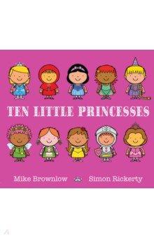 Купить Ten Little Princesses, Hodder, Первые книги малыша на английском языке