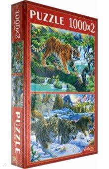 Купить Пазлы 2в1 (1000+1000) Животные №3 (ХП1000-4314), Рыжий Кот, Наборы пазлов
