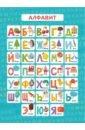Фото - Обучающий плакат Алфавит (57813001) магнитные карточки плакат алфавит
