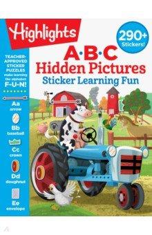 Купить ABC Hidden Pictures Sticker Learning Fun, RH USA, Книги для детского досуга на английском языке