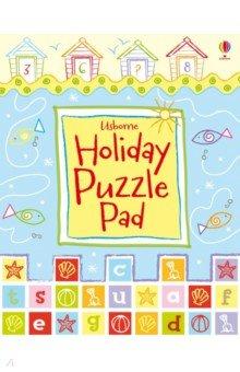 Holiday Puzzle Pad, Usborne, Книги для детского досуга на английском языке  - купить со скидкой