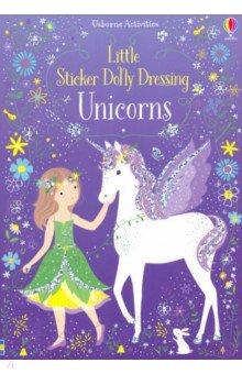 Купить Little Sticker Dolly Dressing. Unicorns, Usborne, Книги для детского досуга на английском языке