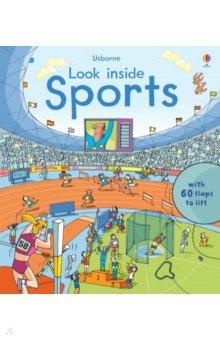 Купить Look Inside Sports, Usborne, Первые книги малыша на английском языке