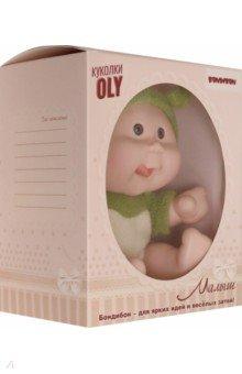 Кукла малыш Oly толстощекий с улыбкой, в зеленом (ВВ5071)