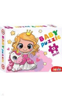 Купить Baby Puzzle. 4035 Принцесса и единорог, Дрофа Медиа, Пазлы (12-50 элементов)