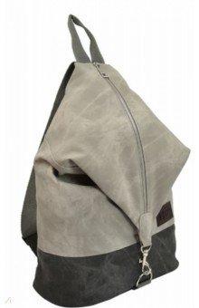 Купить Рюкзак искусственная кожа 40x27, 5x14, 5 см, 1 отделение, серый (52064), Феникс+, Рюкзаки школьные