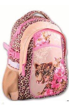 Купить Рюкзак школьный полиэстер 43x30x19 Леопардовый принт (39941), Феникс+, Рюкзаки школьные