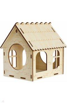 Купить Кормушка №4 (с окнами). Набор для самостоятельной сборки (009004консс003), Символик, Сборные 3D модели из дерева неокрашенные мини