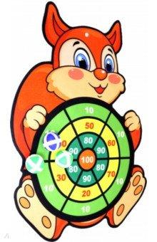 Купить Дартс Белочка с 6 шариками на липучках (WA-16773_), ABtoys, Игры для активного отдыха
