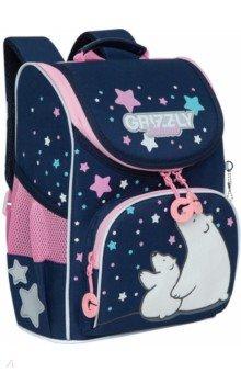 Купить Ранец школьный с мешком, для девочки (RAm-184-2), Grizzly, Ранцы и рюкзаки для начальной школы