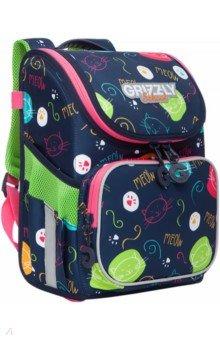Купить Ранец школьный раскладной для девочки (RAl-194-7), Grizzly, Ранцы и рюкзаки для начальной школы