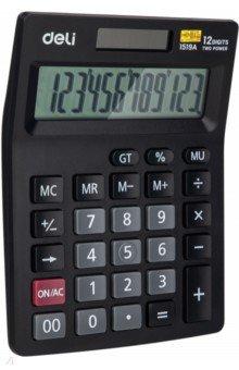 Калькулятор настольный, 12-разрядный, черный (E1519A)
