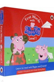 Купить First Words with Peppa. Level 1. Box Set, Ladybird, Первые книги малыша на английском языке