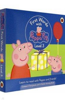 Купить First Words with Peppa. Level 3. Box Set, Ladybird, Первые книги малыша на английском языке