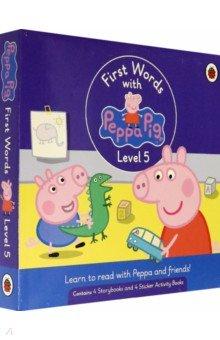 First Words with Peppa. Level 5. Box Set, Ladybird, Первые книги малыша на английском языке  - купить со скидкой