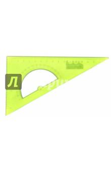 Треугольник с транспортиром (30х16 см, прозрачный, в ассортименте) (ТК01)