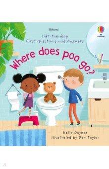 Купить Where Does Poo Go?, Usborne, Первые книги малыша на английском языке