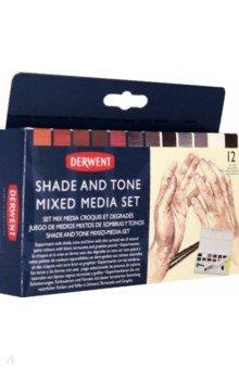 Набор красок Shade & Tone Mixed Media, 12