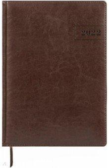Еженедельник датированный на 2022 год, Imperial, А4, 64 листа, коричневый