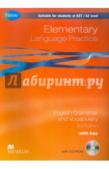 Elementary Language Practice. English Grammar and Vocabulary. With key (+CD) murphy r essential grammar in use 3rd edition classware for elementary students of english dvd rom