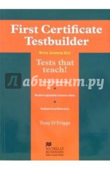 First Certificate: Testbuilder with answer key