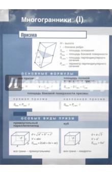 Многогранники / Призма. Многогранники (2). Стационарное наглядное пособие - С. Афанасьева