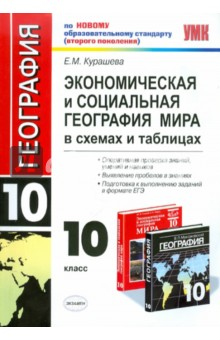 Экономическая и социальная география мира: 10 класс: в схемах и таблицах - Елена Курашева