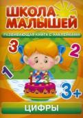 С. Разин - Цифры. Развивающая книга с наклейками для детей от 3-х лет обложка книги
