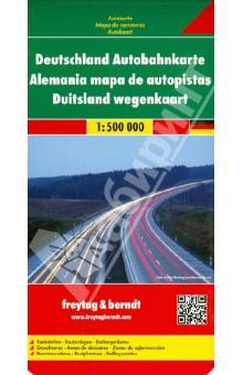 Germany motorway map. 1:500 000