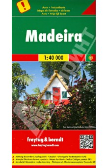 Мадейра. Карта. Madeira 1:40 000